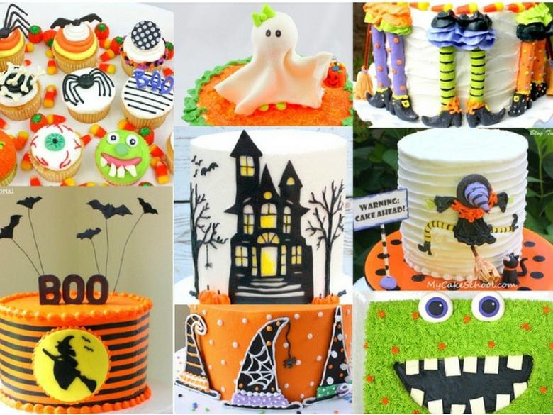 MyCakeSchool.com's Roundup of FAVORITE Halloween Cakes, Tutorials, Recipes, and Ideas!