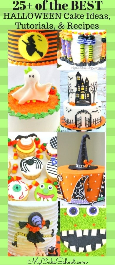 Roundup of the BEST Halloween Cakes, Tutorials, and Recipes! (As featured by MyCakeSchool.com)