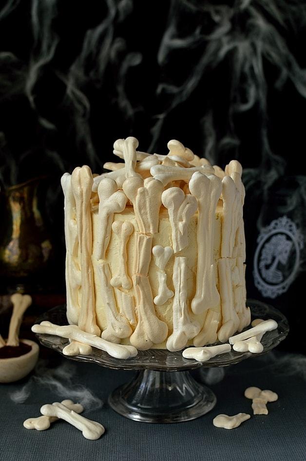 Meringue Bone Cake Tutorial by Domestic Gothess