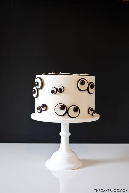 Monster Eye Cake! SO simple! Tutorial by The Cake Blog