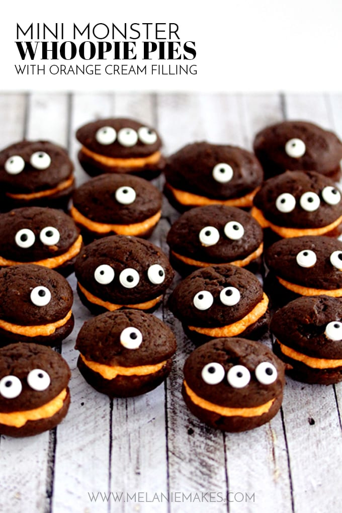 Adorable Monster Whoopie Pies by Melanie Makes (as featured on MyCakeSchool.com)