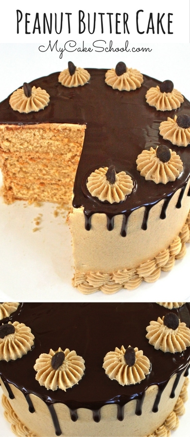 Amazing Scratch Peanut Butter Cake Recipe by MyCakeSchool.com.