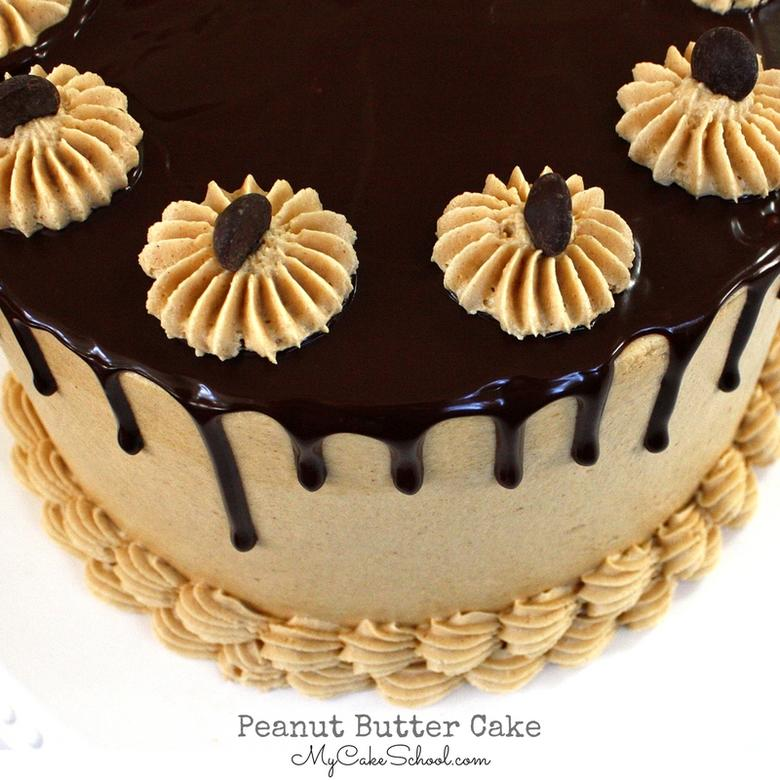 Moist and Delicious Scratch Peanut Butter Cake Recipe by MyCakeSchool.com!