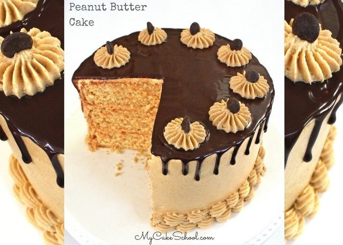 The BEST Peanut Butter Cake Recipe by MyCakeSchool.com!