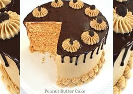 The BEST Peanut Butter Cake Recipe by MyCakeSchool.com