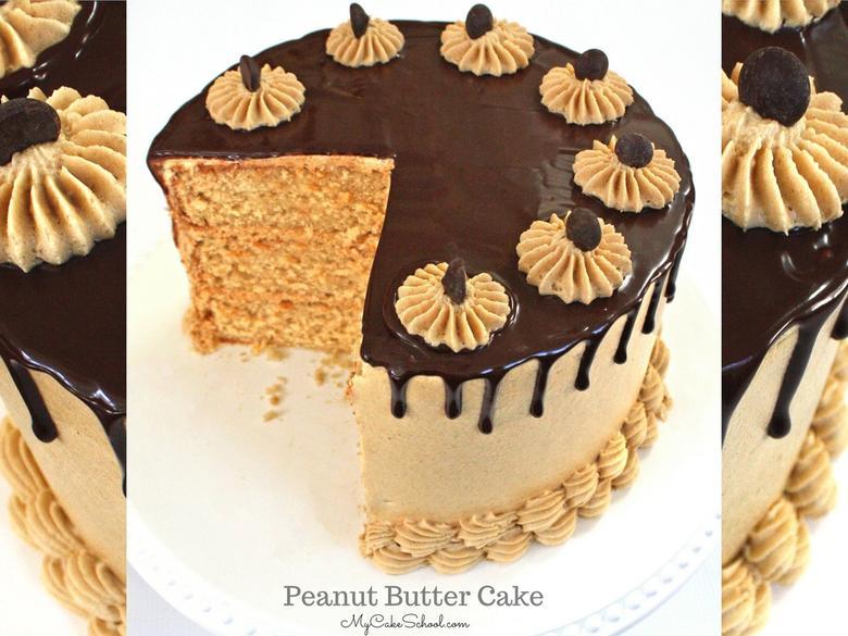The BEST Peanut Butter Cake Recipe by MyCakeSchool.com