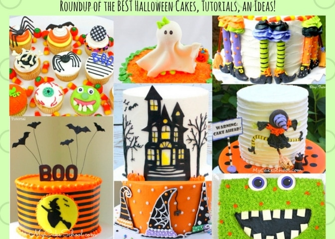 Roundup of the BEST Halloween Cakes, Tutorials, and Ideas as featured on MyCakeSchool.com!