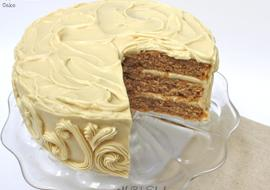Apple Walnut Cake with Maple Cream Cheese Frosting!