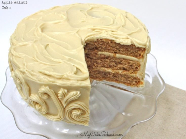 Apple Walnut Cake with Maple Cream Cheese Frosting