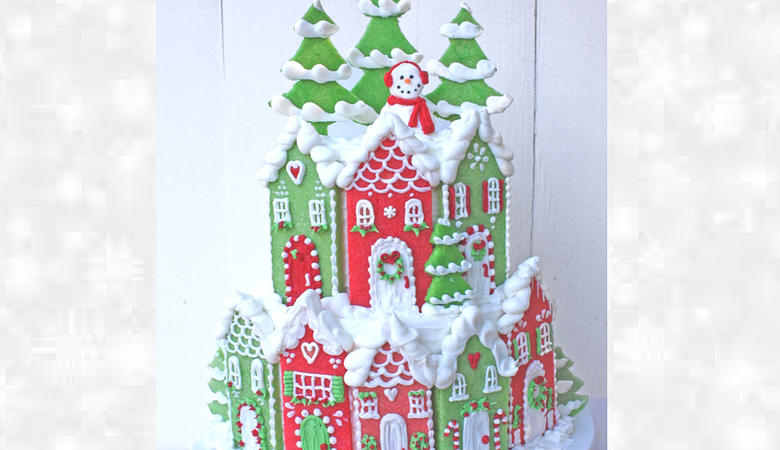 Christmas Village Cake- Member Video Tutorial