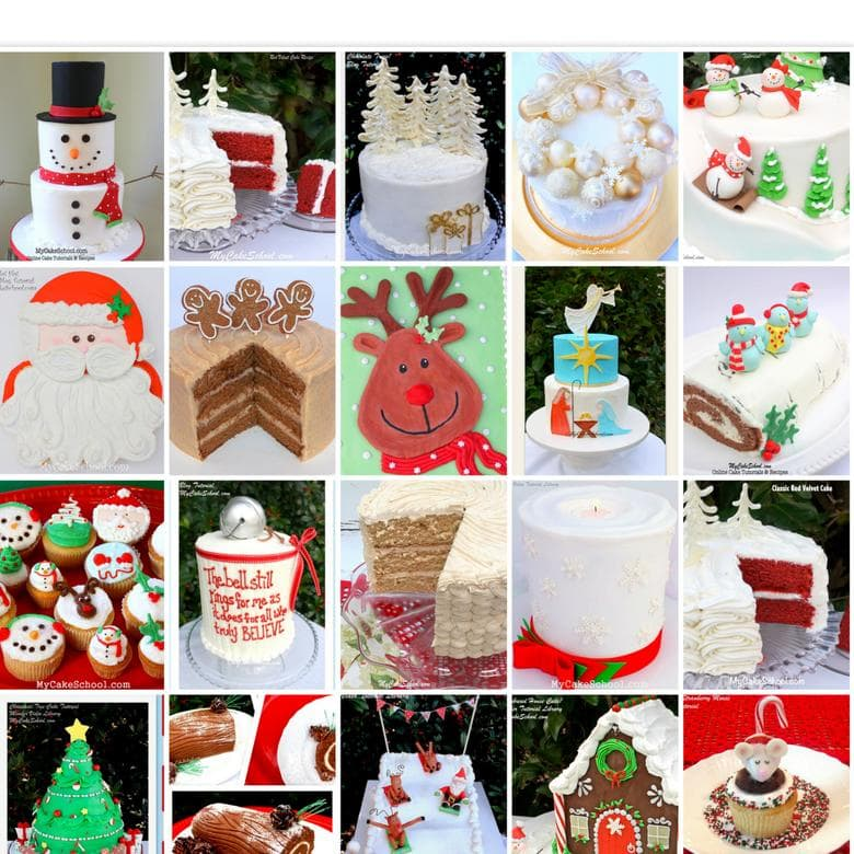 Roundup of FAVORITE Christmas Cakes, Recipes and Ideas!