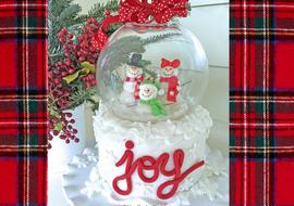 Adorable Snow Globe Cake Decorating Video Tutorial by MyCakeSchool.com (Member Section). PERFECT for Christmas entertaining!