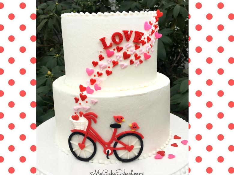 Valentine's Day Bicycle Cake Tutorial