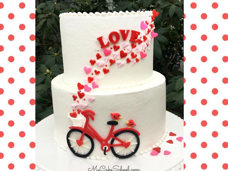 Valentine's Day Bicycle Cake Tutorial