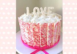 Learn how to make a marbled Chocolate Panel Cake in this free cake decorating video tutorial!
