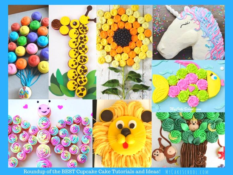 MyCakeSchool.com's Roundup of the BEST Cupcake Cake Tutorials and Ideas! So quick and simple!