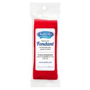 Satin Ice Red Fondant- 4 oz