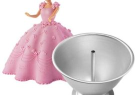 This Wilton Wonder Mold Pan (Doll Pan) is great for making the skirt of a Princess or Barbie cake.