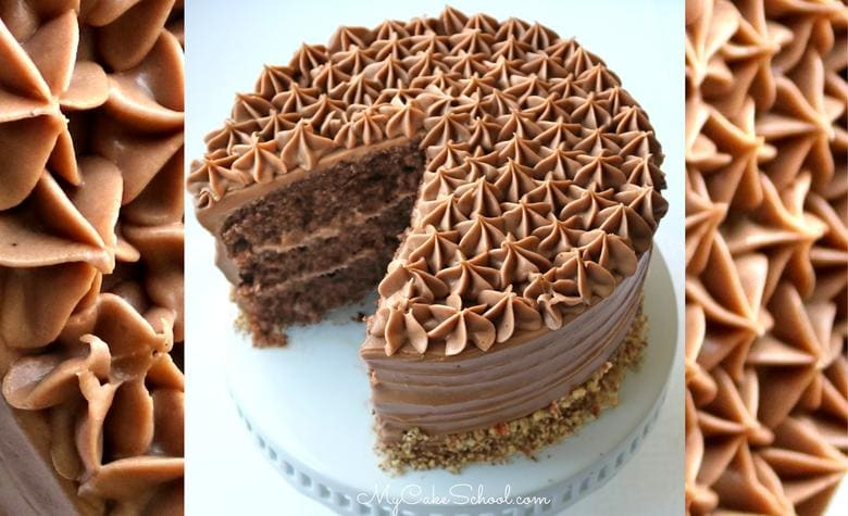 Amazing Chocolate Italian Cream Cake Recipe by MyCakeSchool.com. So moist and flavorful!