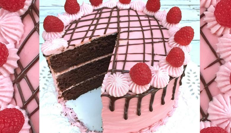 Devil's Food Cake with Raspberry Filling- Scratch Recipe