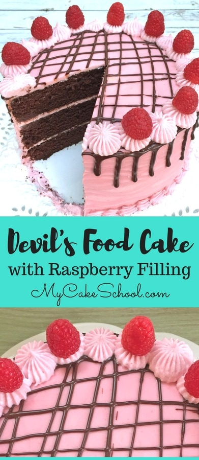 AMAZING Devil's Food Cake recipe with Raspberry Filling