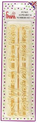 Funky Alphabet and Number Tappit Cutter Set