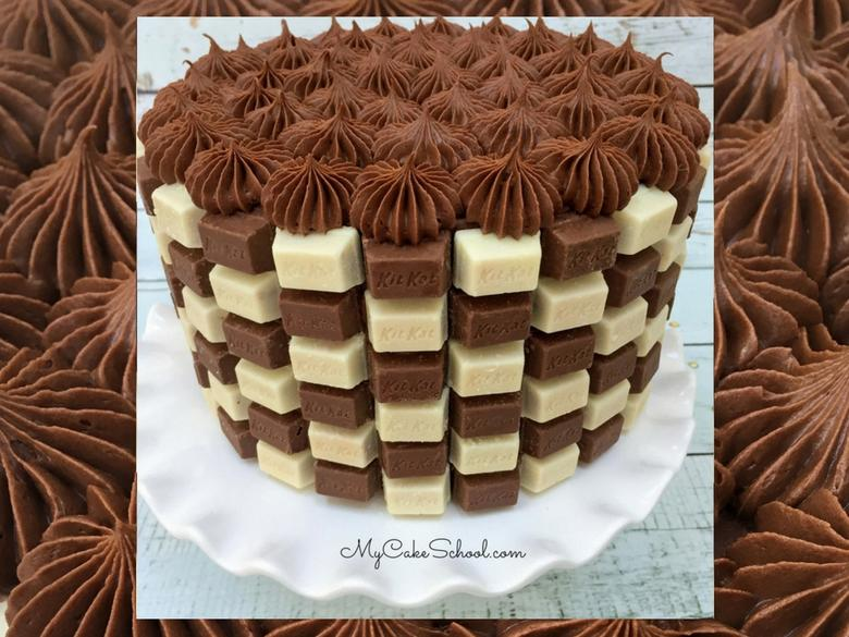 Kit Kat Checkerboard Cake Video Tutorial by MyCakeSchool.com