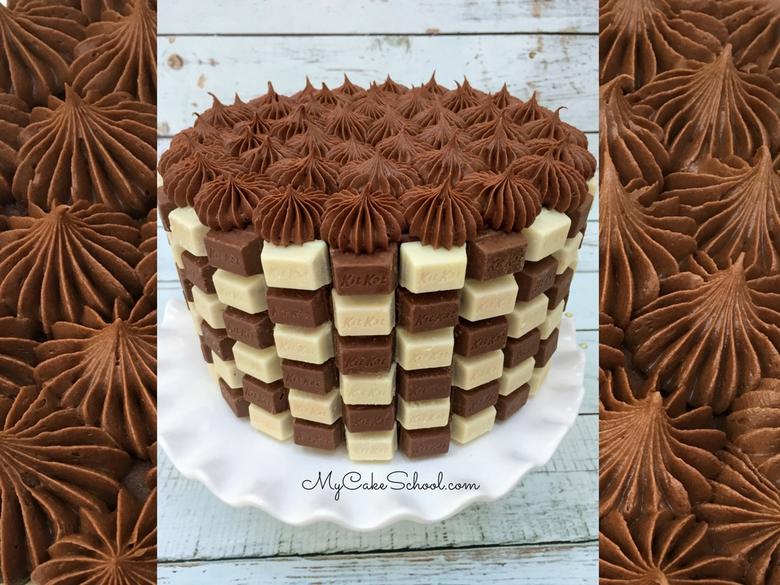 Easy and CUTE Kit Kat Checkerboard Cake Video Tutorial! Free Tutorial!