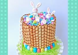 CUTE and easy Bunnies in the Candy cake tutorial by MyCakeSchool.com