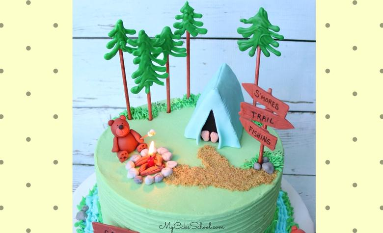 CUTE Camping Cake Video Tutorial by MyCakeSchool.com