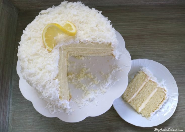 Moist and Delicious Coconut Lemon Cake Recipe from Scratch by MyCakeSchool.com!