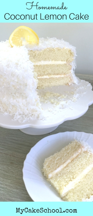 This moist and delicious Coconut Lemon Cake recipe consists of flavorful coconut cake layers, a lemon whipped cream filling, and lemon cream cheese frosting!