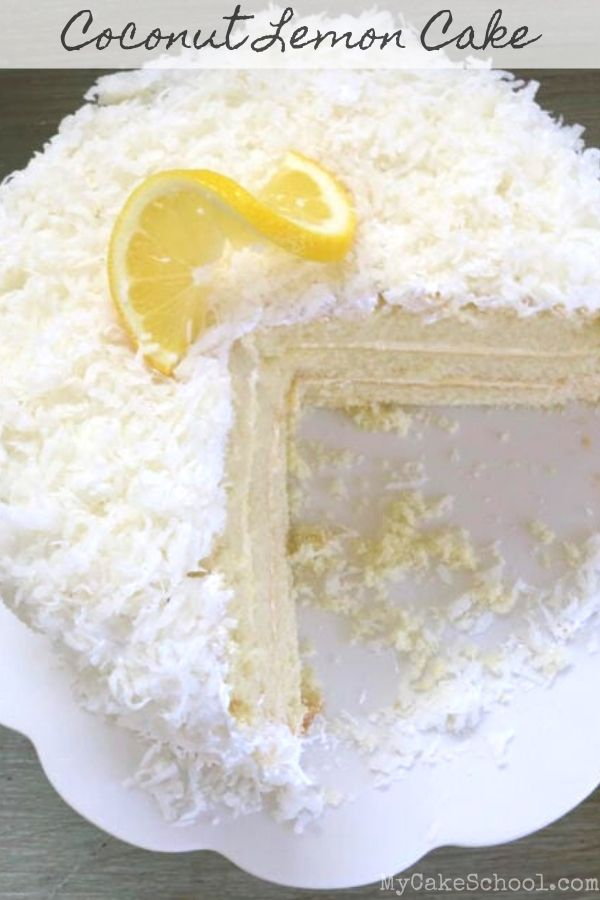 Coconut Lemon Layer Cake- So moist and flavorful!