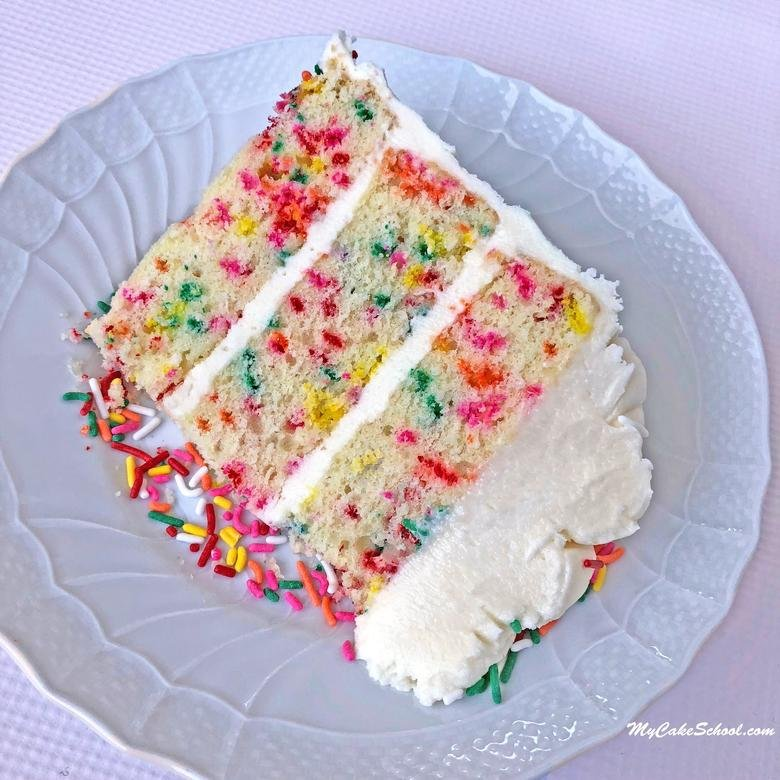 Funfetti Cake is always a crowd pleaser! You'll love this moist and delicious scratch Funfetti Cake recipe!