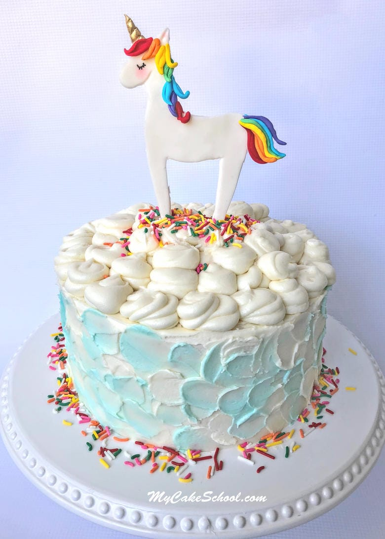 Learn how to make a cute and easy unicorn cake topper in our free cake video tutorial! MyCakeSchool.com