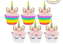 Unicorn Cupcake Wrappers and Toppers! Perfect for a unicorn party