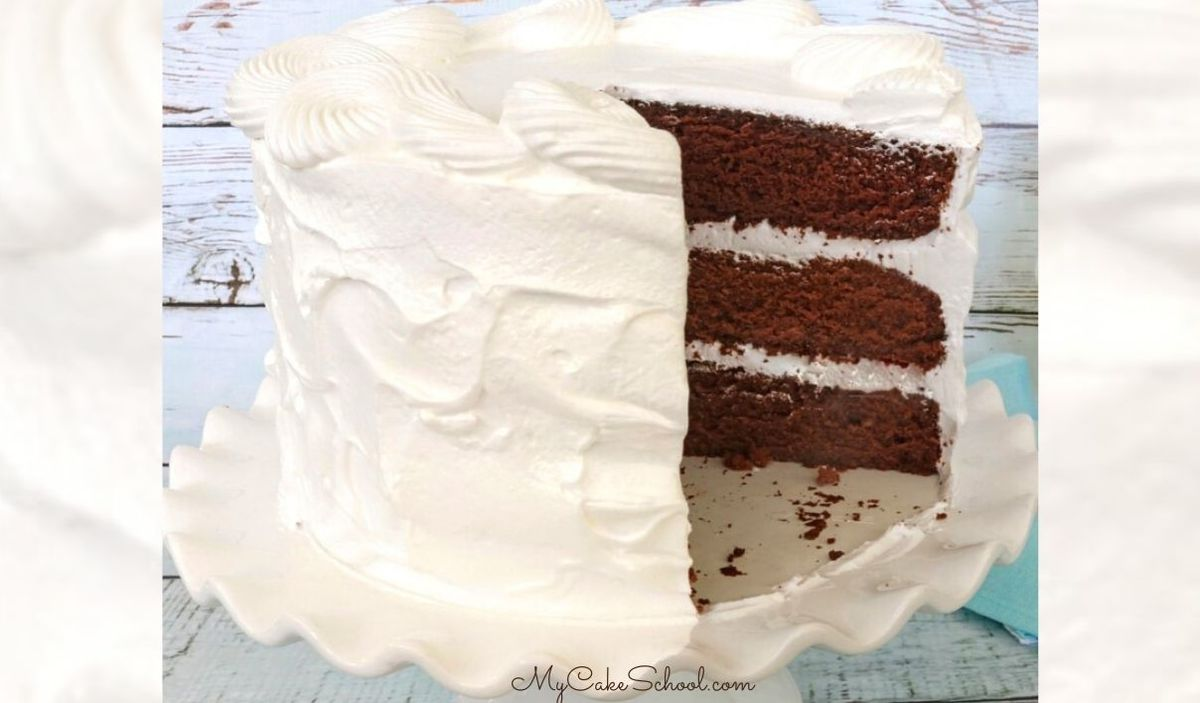 Chocolate Sour Cream Cake with Seven Minute Frosting