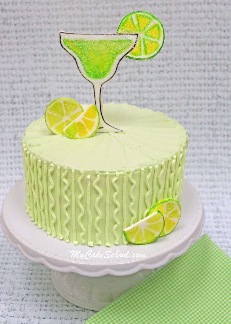 Delicious Margarita Cake- A doctored cake mix recipe! This easy and delicious recipe with Tequila Lime Buttercream is perfect for Cinco de Mayo!