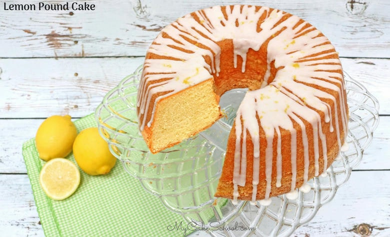Amazing Lemon Pound Cake Recipe by MyCakeSchool.com! This homemade lemon pound cake is always a crowd pleaser. Enjoy it on it's own, or topped with berries and cream! (From My Cake School's Cake Recipe's Section)