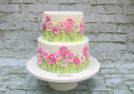 Ranunculus Fields Cake