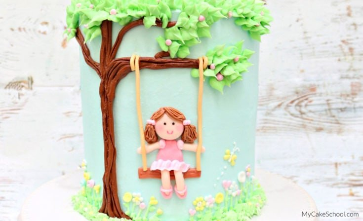 Sweet Girl on a Swing- Free Cake Video