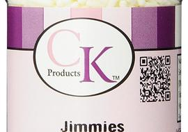 White Jimmies Sprinkles are great to have on hand for your cake decorating.