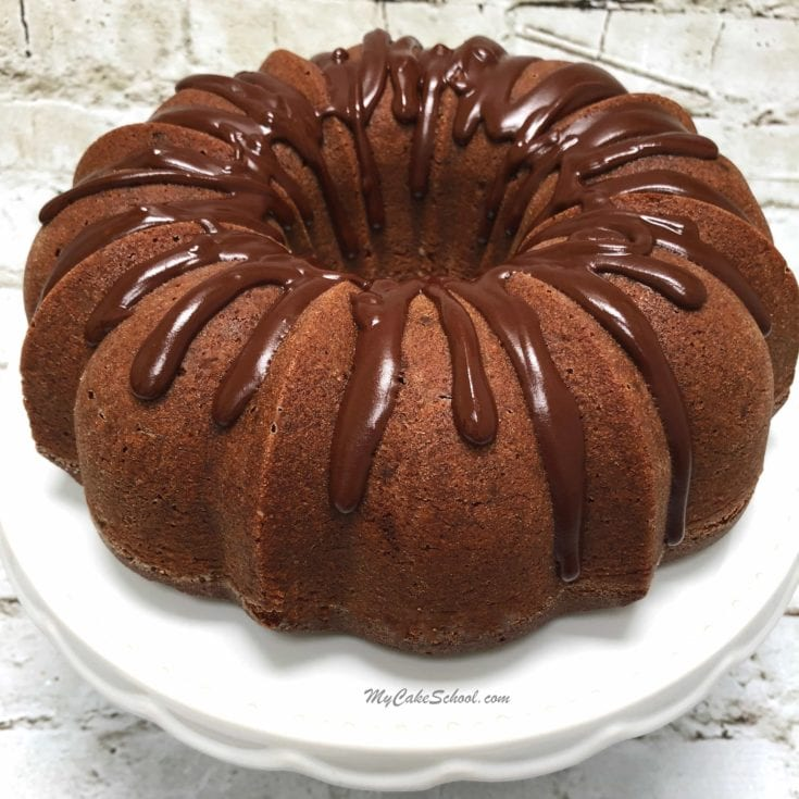 Double Chocolate Pound Cake Recipe by MyCakeSchool.com