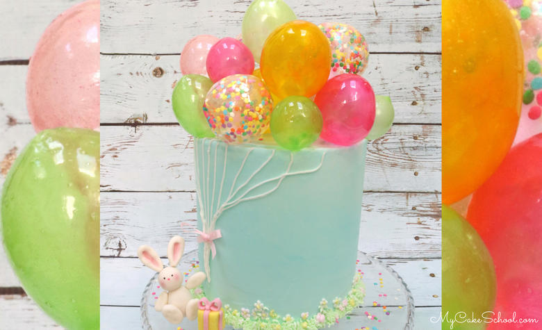 Adorable Gelatin Balloons Cake Video Tutorial! Learn how to make Gelatin Bubbles!