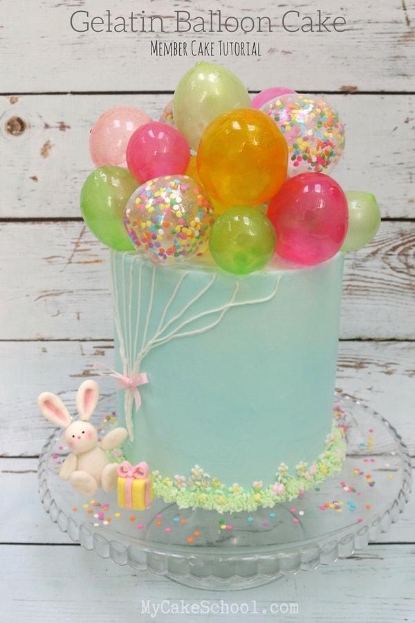 Gelatin Balloon Cake Learn To Make Gelatin Bubbles My