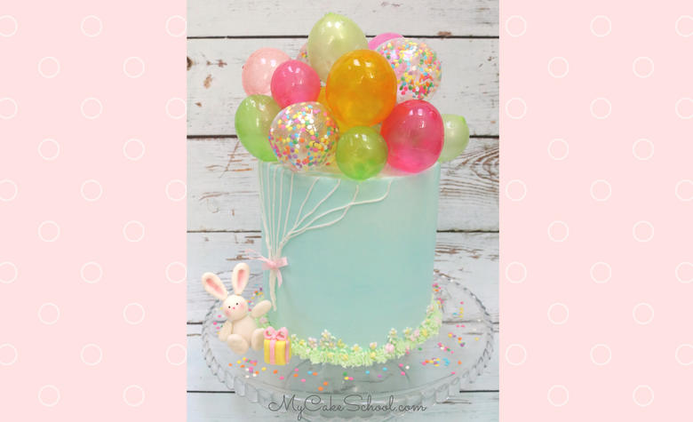Learn how to make this adorable Gelatin Balloon cake in this Gelatin Bubble Cake Video Tutorial! This is such a whimsical, fun cake design for birthday parties!