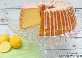 This moist and delicious Homemade lemon Pound Cake recipe is the best!