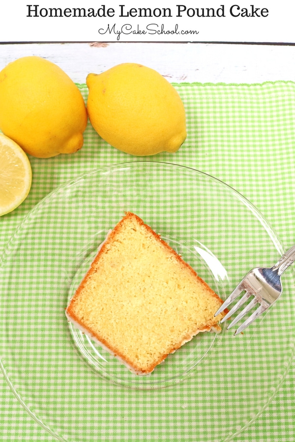The BEST Lemon Pound Cake recipe! This moist and flavorful lemon cake is sure to be a crowd pleaser!