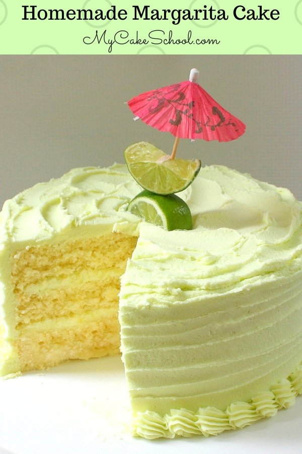 This scratch Margarita Cake recipe is the BEST! It's the perfect summer cake!