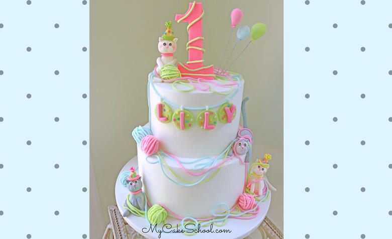 Learn how to make an adorable Cat Cake in this Video Tutorial by MyCakeSchool.com